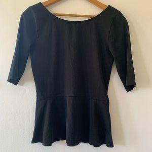 ARITZIA Babaton jersey peplum shirt